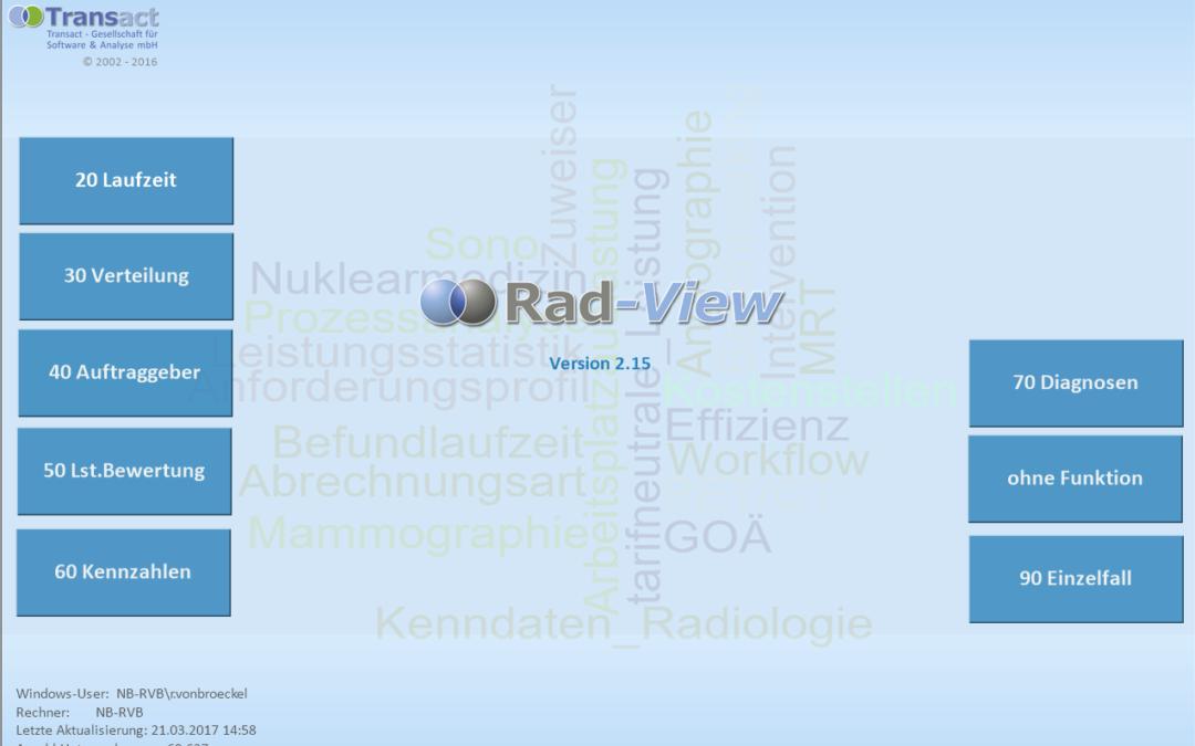 Update RAD-View – Version 2.15