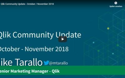 Qlik Community Update – October / November 2018 (6 Min. Video)