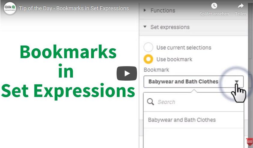 Qlik Sense Lesezeichen (Bookmarks) in Set-Analysen verwenden, geht das?