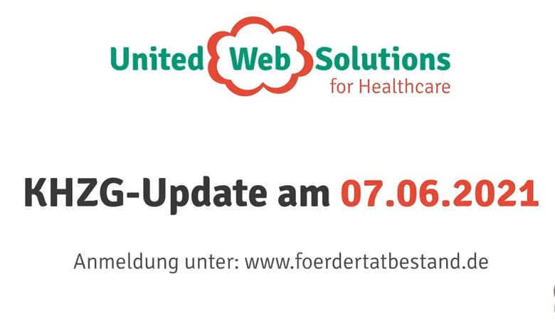 Die United Web Solutions Workshop und Diskussion zum zum KHZG-Update am 07.06.2021